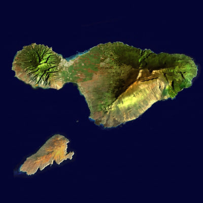 Maui and Kahoolawe 3D Models