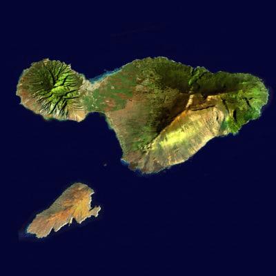 Maui and Kahoolawe 3D Models