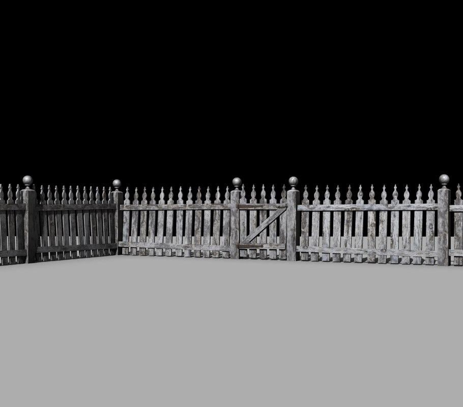 Old Picket Fence, High Detail