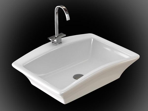 Ceramic sink 2 3D Models