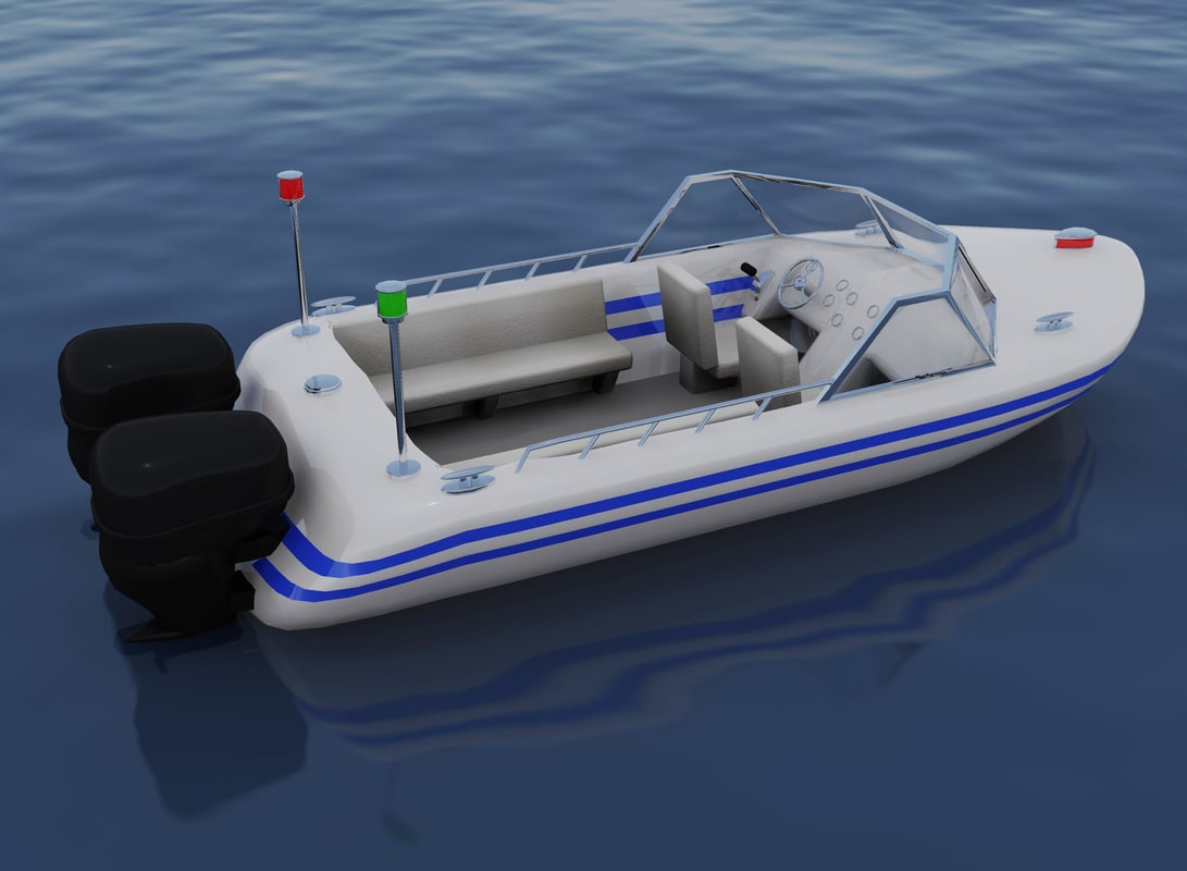 3d Speed Boat Model