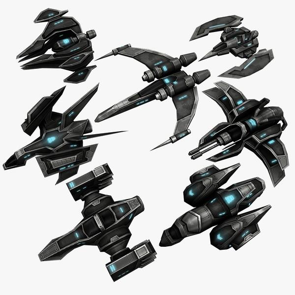 7 Ships 3D Models