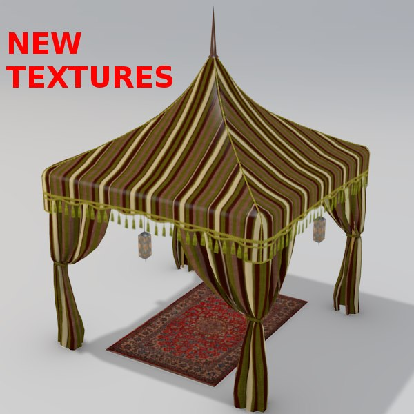 Arabian Luxury Tent 3D Models