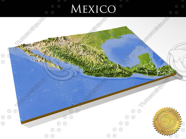 Mexico, High resolution 3D relief maps 3D Models