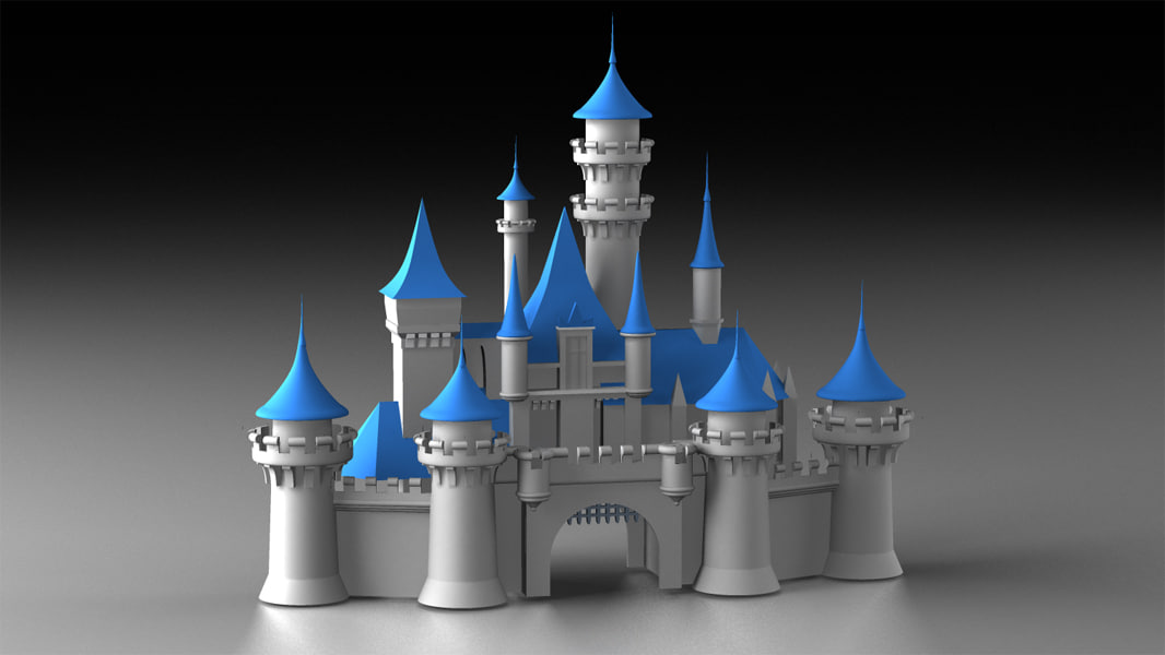Disney Cinderella Castle + Logo and Animated