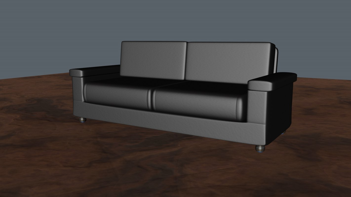 3d model leather sofa bed for Sofa bed 3d model