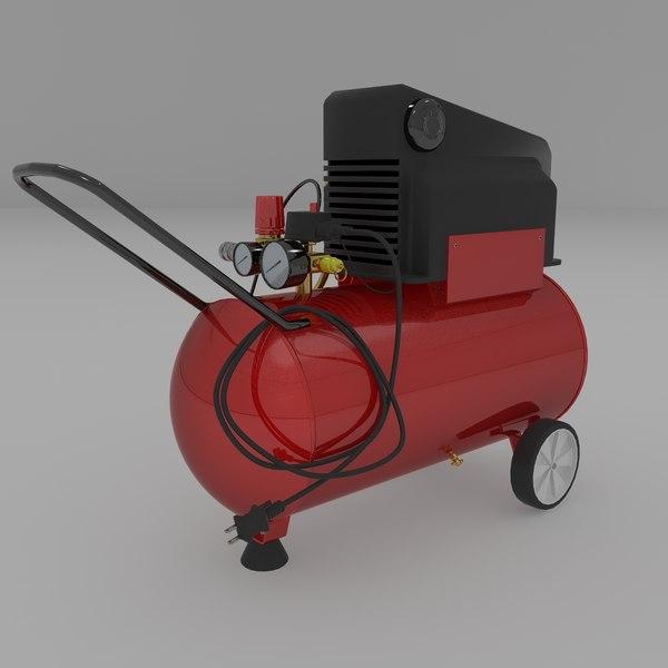 Oilless Air Compressor 3D Models