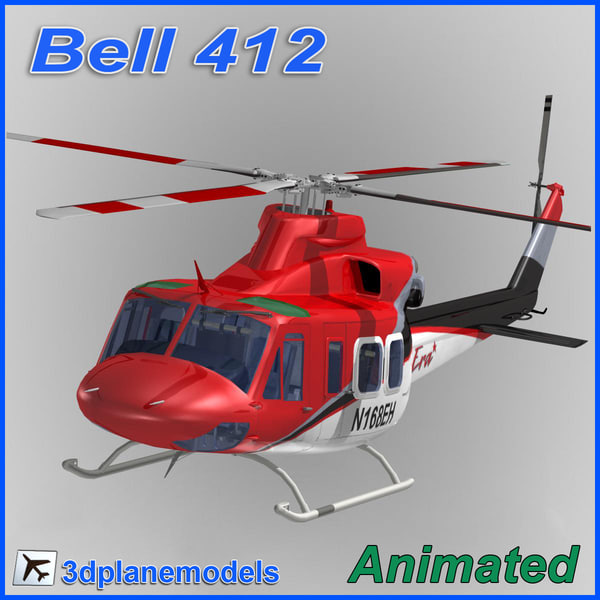Bell 412 ERA Helicopters 3D Models