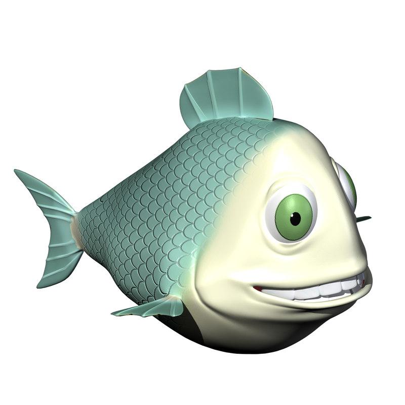Blue Fish Character