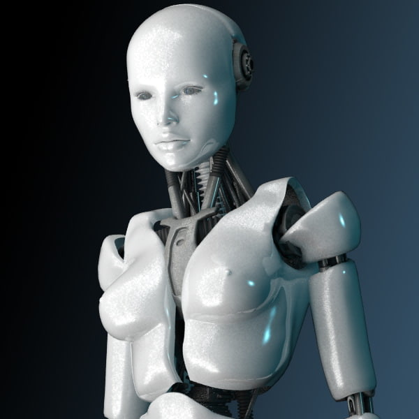 Female Robot 3D Models