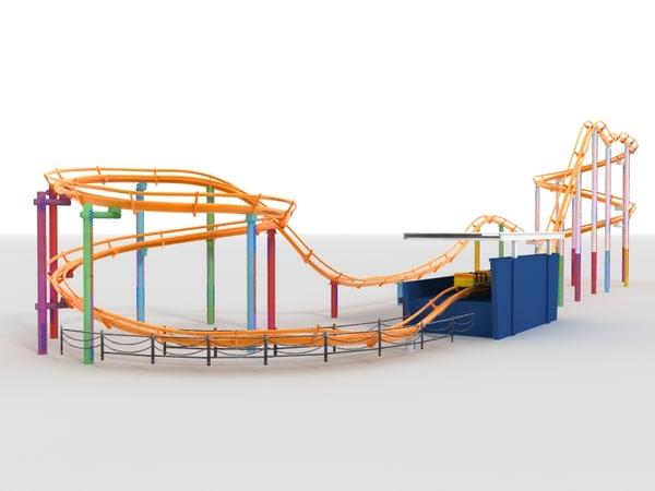 Roller coaster 3D Models