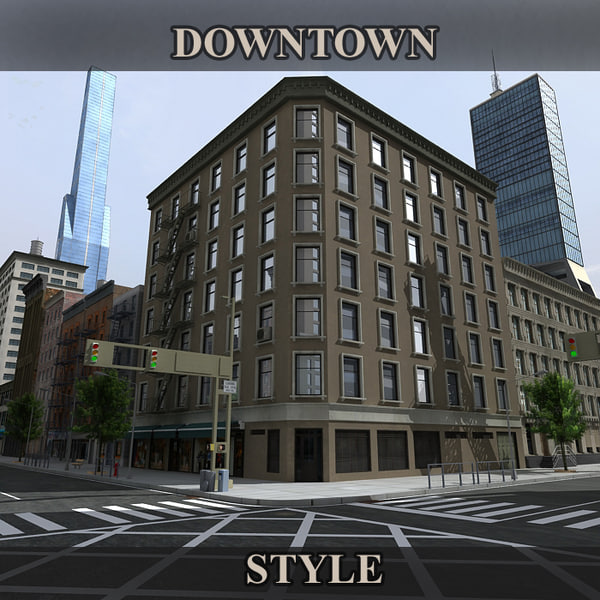 Downtown Style 3D Models