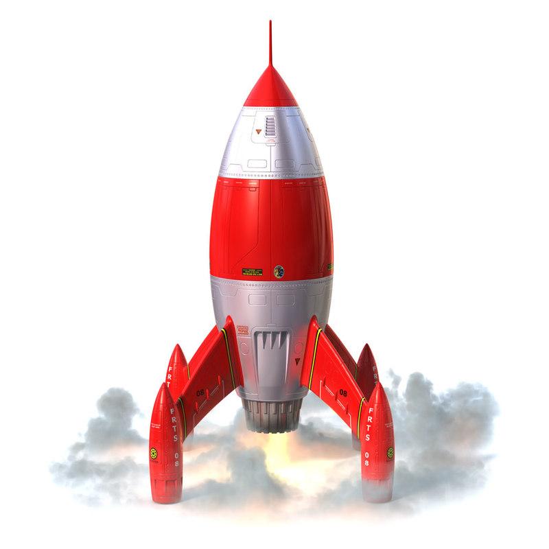 cartoon rocket 3d 3ds