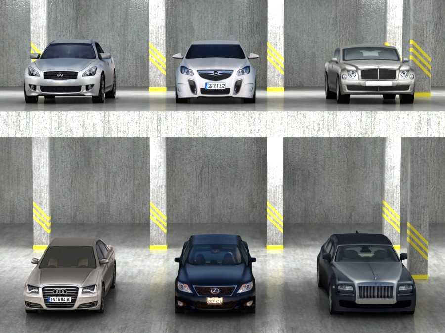 6 Low Poly luxury/sport sedans