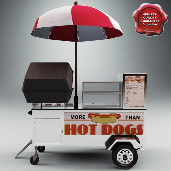 Hot Dog Cart 3D Models