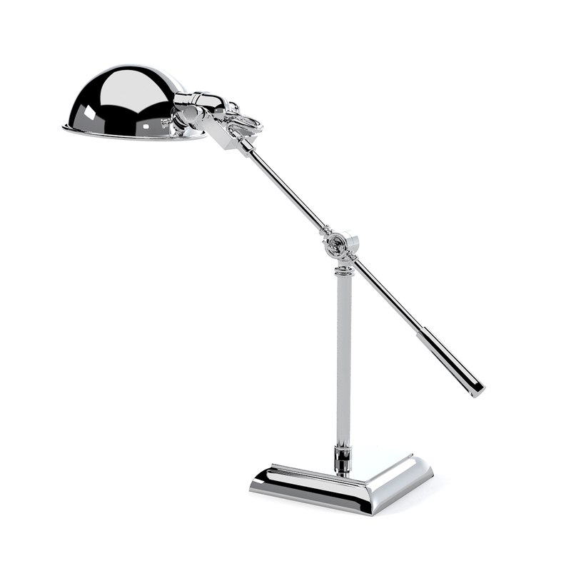 chrome polished metal table lamp art deco modern contemporary pivoting desk light metal steel0001.jpg