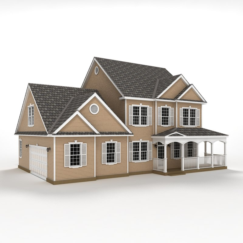 3d two story house siding for Two story model homes
