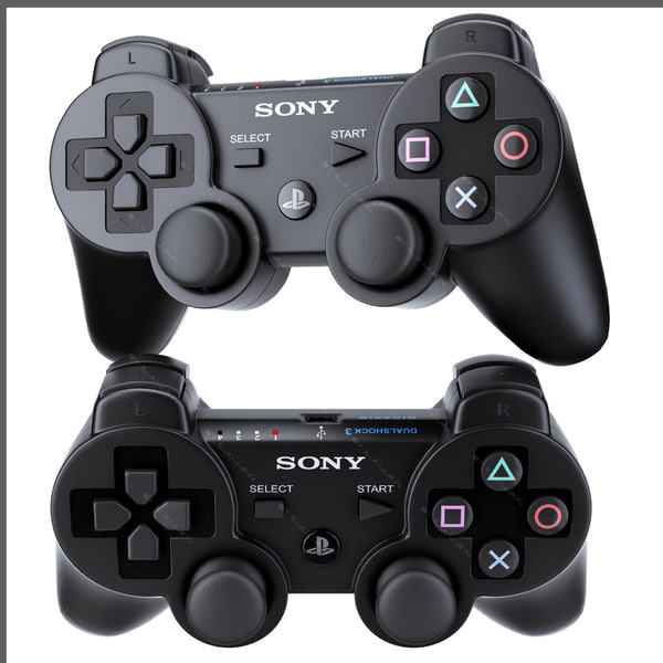 Sony PS3 DualShock controller 3D Models
