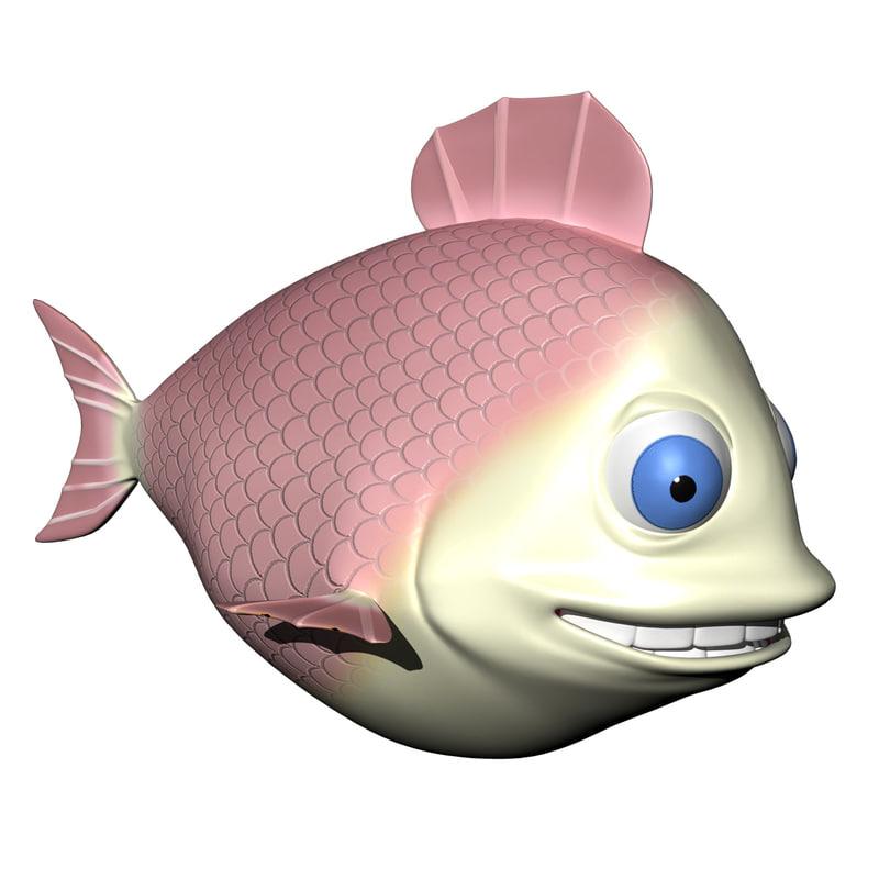 Pink Fish Character