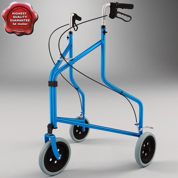 Folding 3 Wheel Walker 3D Models