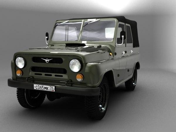uaz jeep 3D Models