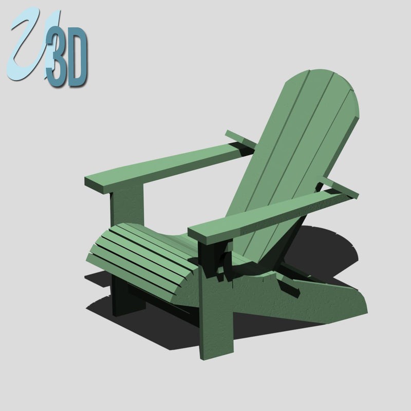 Searched 3d models for adirondack-chair-