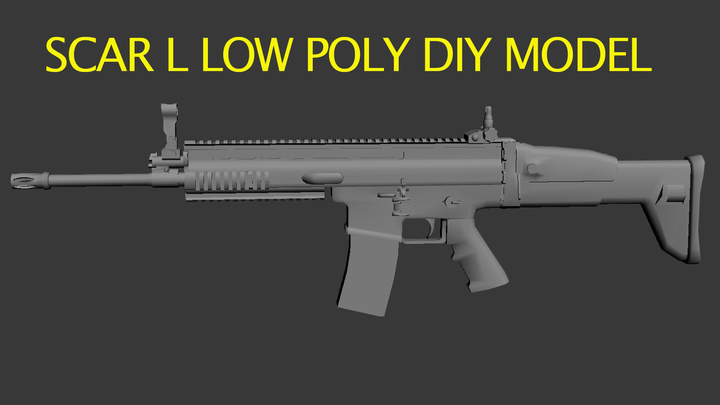 SCAR L low poly DIY