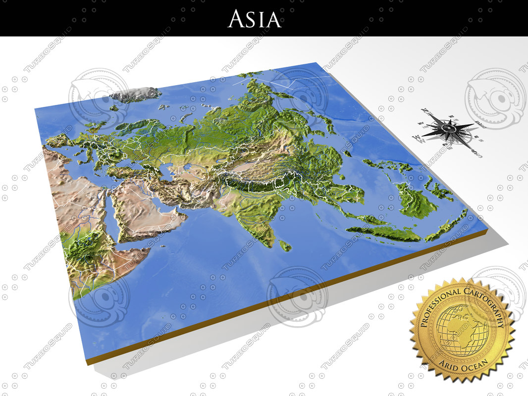 3d Model Relief Asia