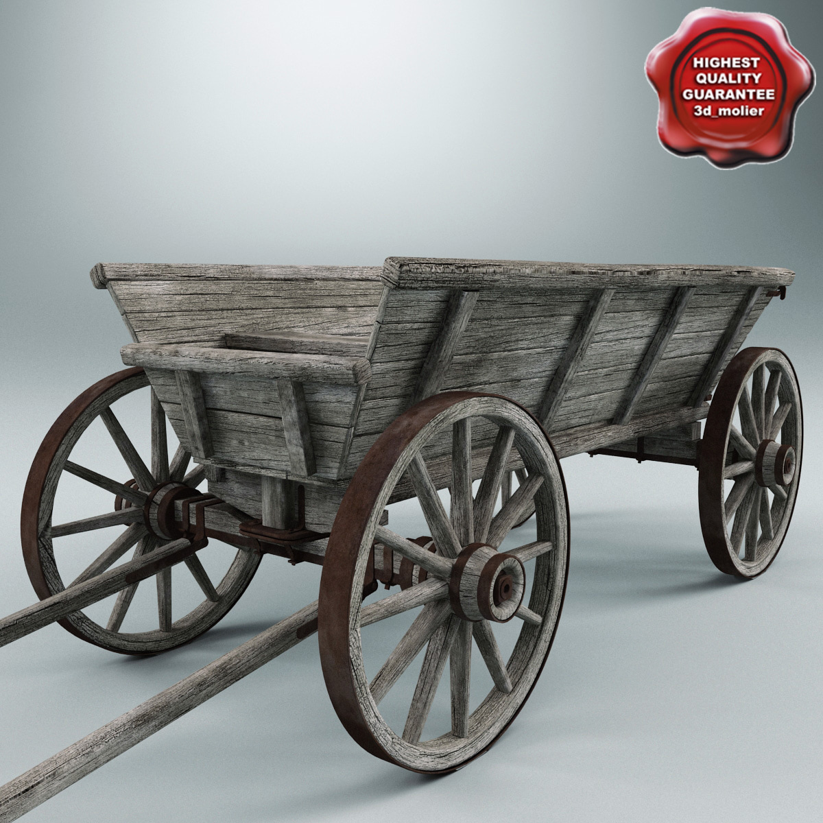 Old Wooden Cart V1