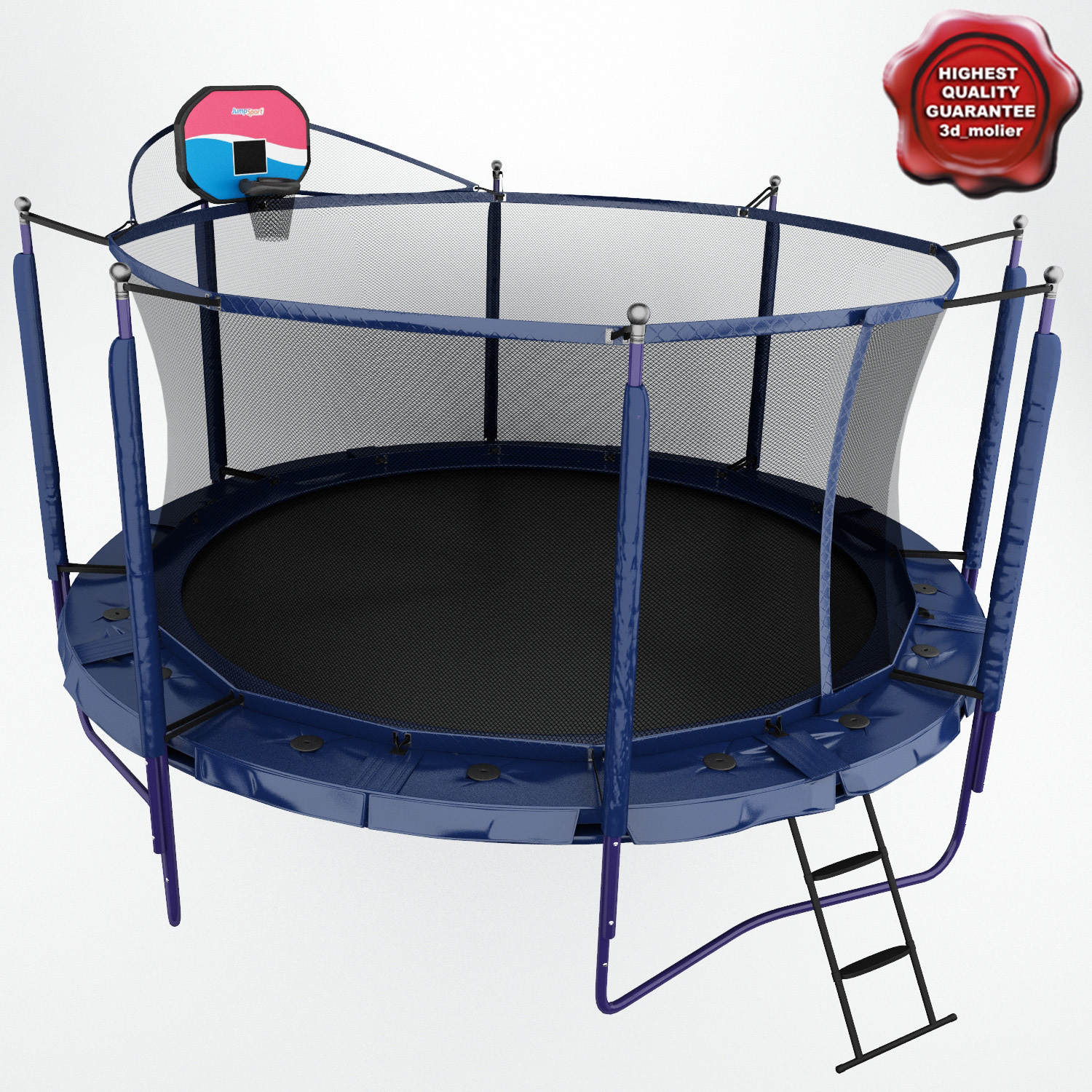 Jumpsport Elite 14 Ft Powerbounce Trampoline With: 3ds Trampoline Jumpsport Elite Js