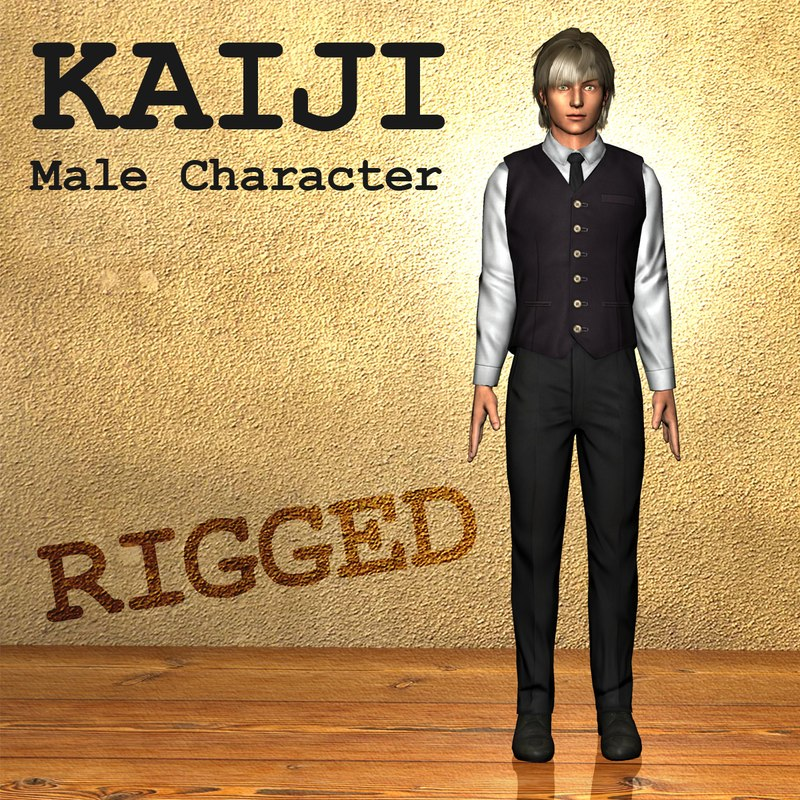 Kaiji Male Character Anime Style