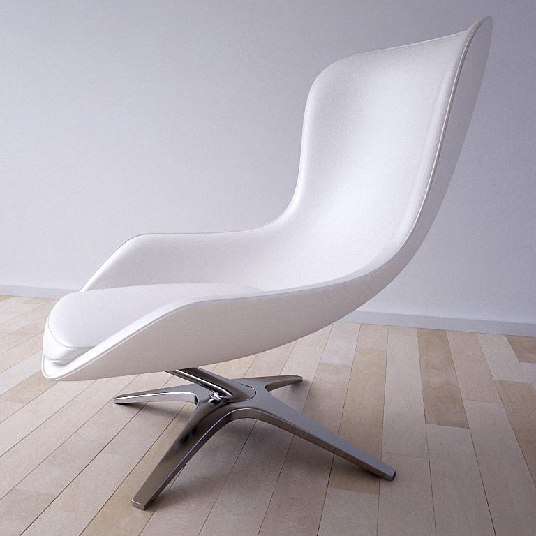 3d max heron chair charles