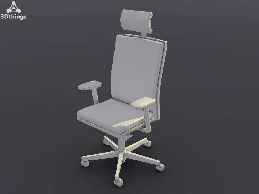 Swivel chair with adjustable multi-functional headrest.png