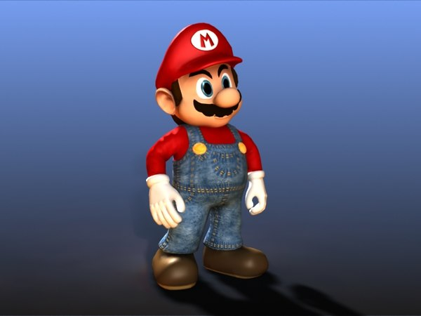Mario Videogame Character 3D Models