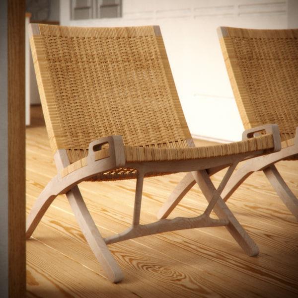 PP512 Wegner chair 3D Models