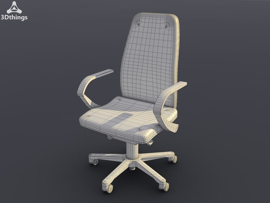Swivel chair with aluminium armrests