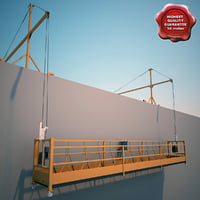 window cleaning gondola 3D models