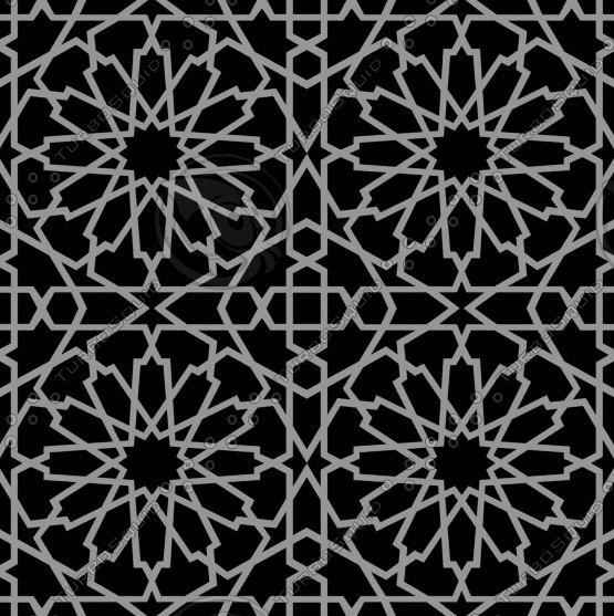 Tileable Decorative Grid Texture Maps
