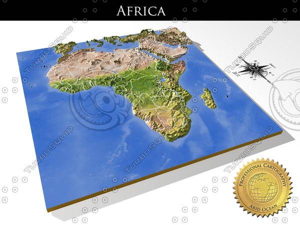 Africa, High resolution 3D relief maps 3D Models