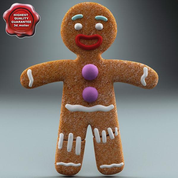 Gingerbread Man Static 3D Models