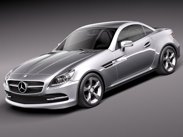 3d model of mercedes benz slk 2012 for Mercedes benz 2012 models