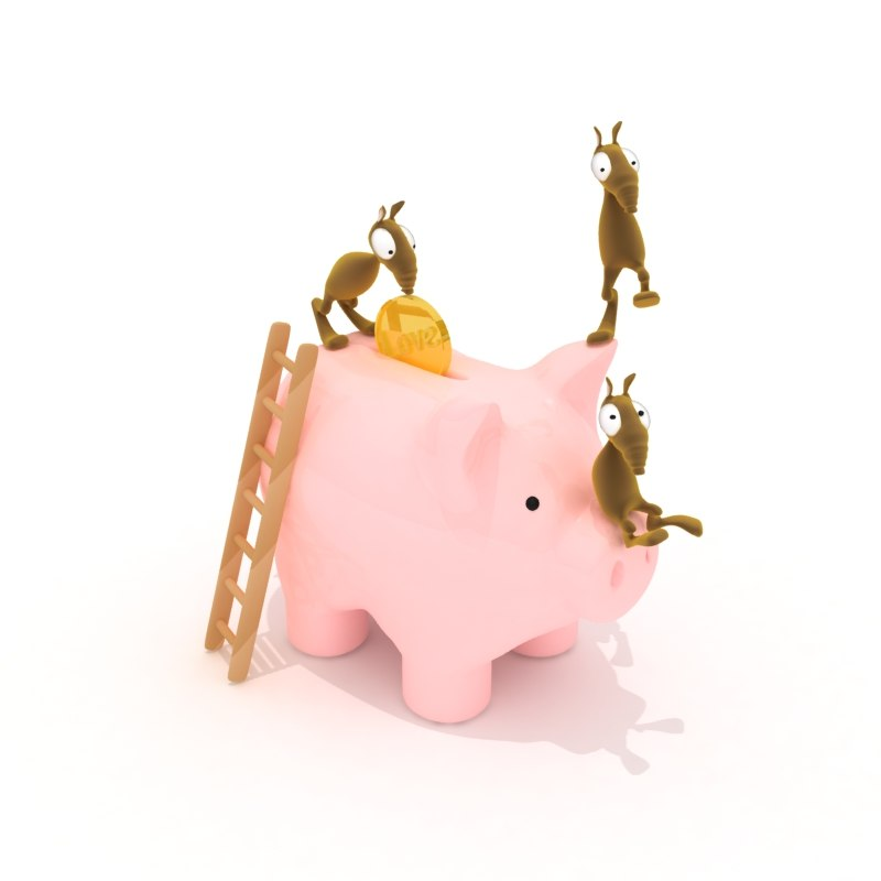 Piggy Bank and Characters
