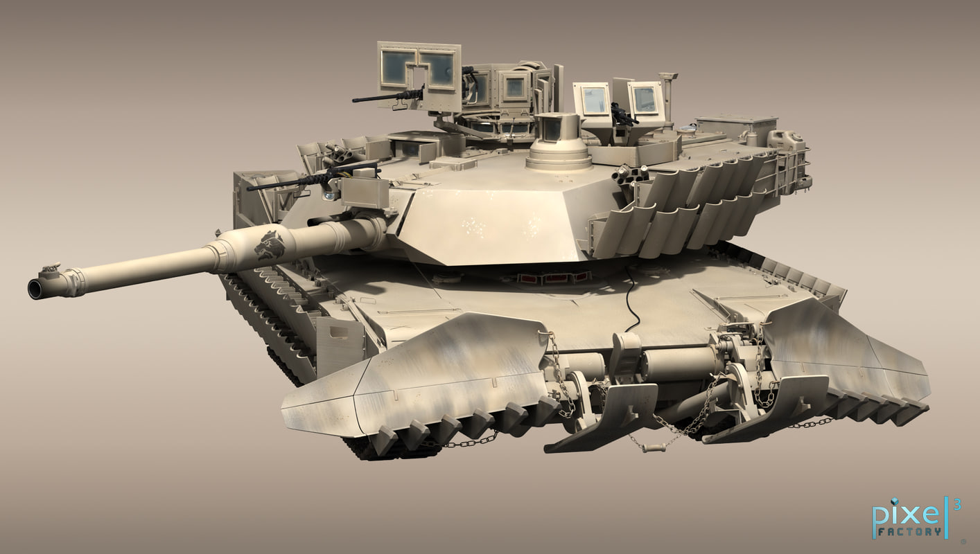 M-1A2 Abrams with AS-1 Mine Plow