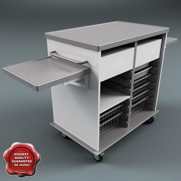 Medical Supply Cart V2 3D Models