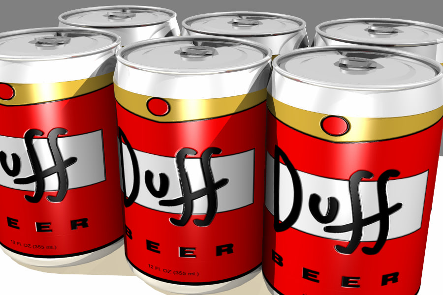 Duff beer can - The Simpsons