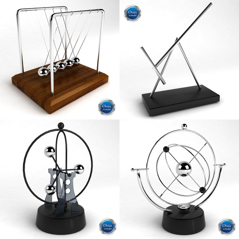3d modelled kinetic desk sculpture