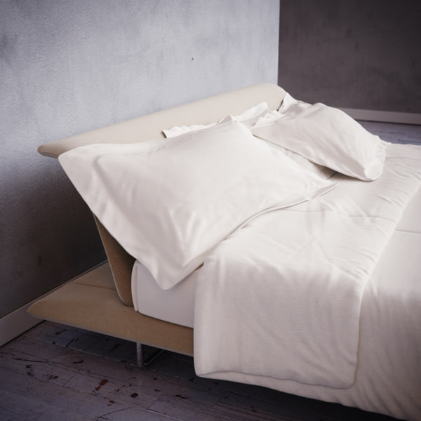 Photorealistic Siena Bed 3D Models