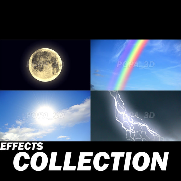 Natural effects collection 3D Models