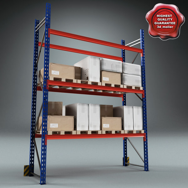 Warehouse Rack Collection 3D Models