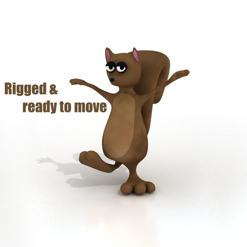 Cartoon Squirrel - RIGGED